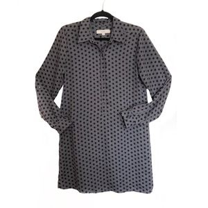 Ann Taylor Loft Black and Grey Long Sleeve Dress